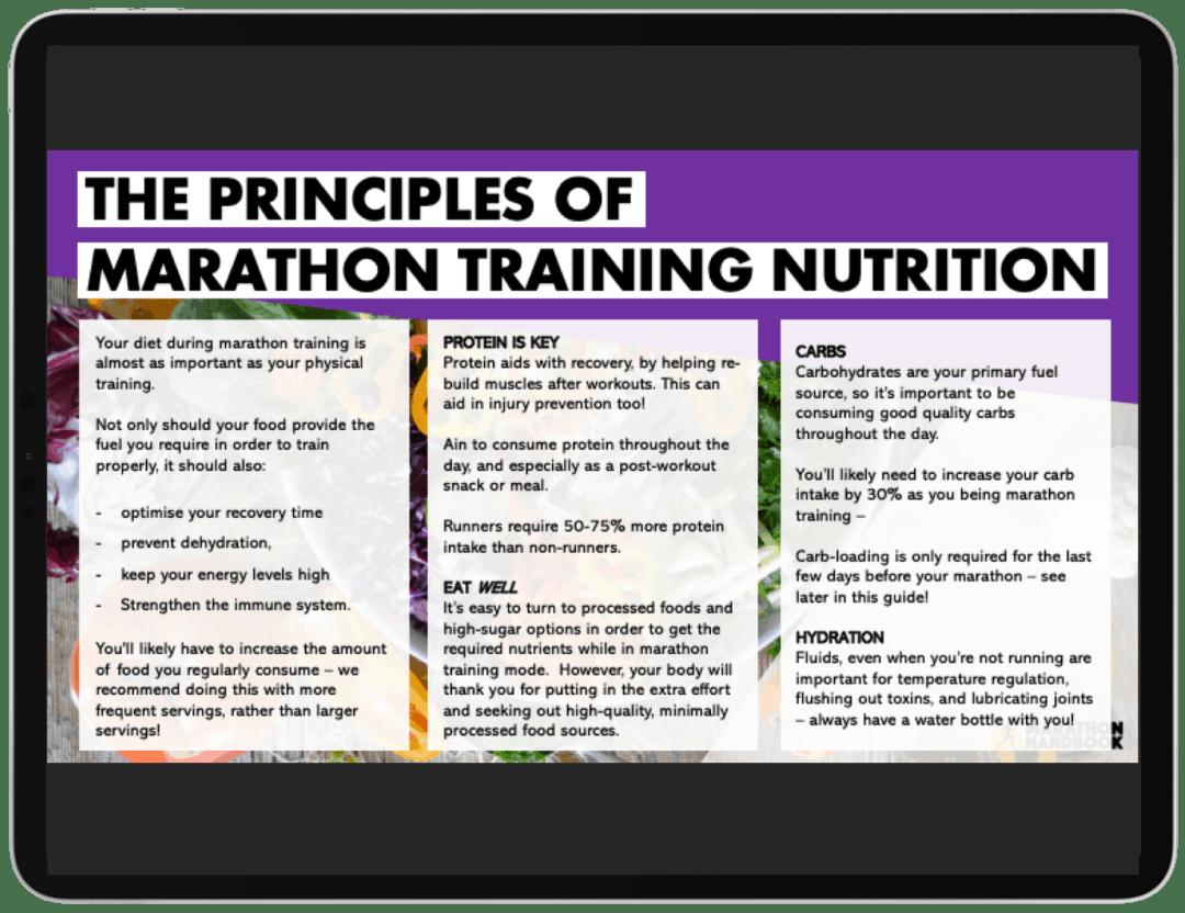 Marathon Training Meal Plans - FREE DOWNLOAD 1