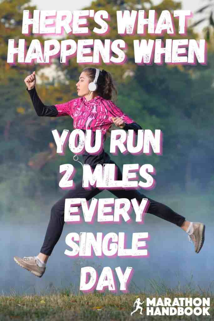 running 2 miles a day to lose weight
