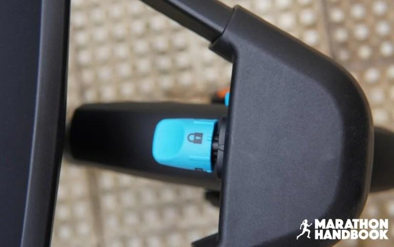 the front wheel locking pin