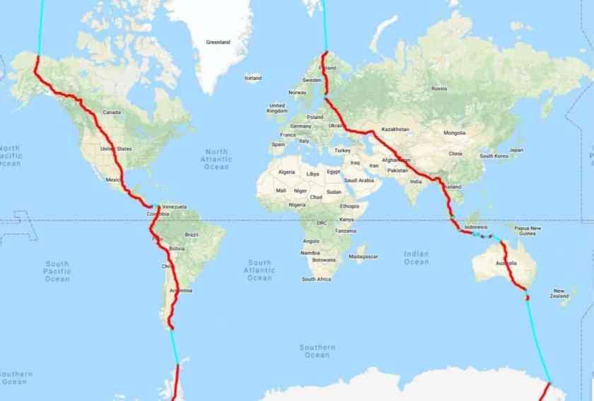 CIRCUMPOLAR RACE AROUND THE WORLD (CRAW)