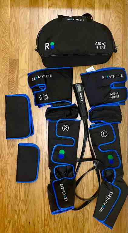 reathlete leg massager all thats included
