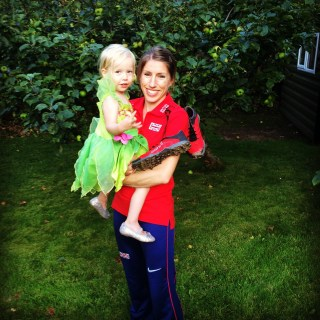 Photo: Tinkerbell and mummy