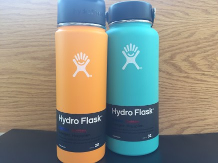 HydroFlasks keep your liquids cold for 24 hours