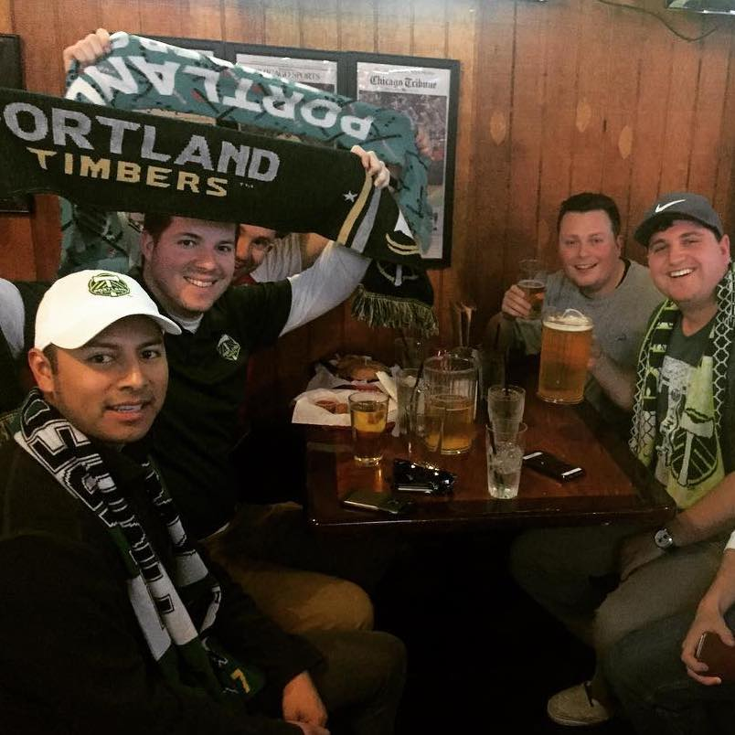 Timbers fans having a good time!