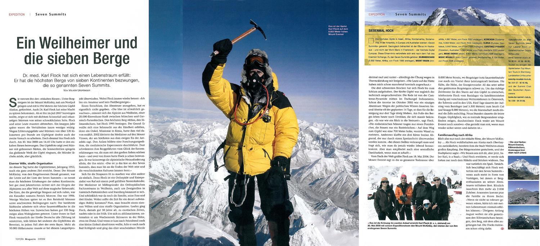 ein Weilheimer bezwingt die sieben höchsten Berge der einzelnen Kontinente