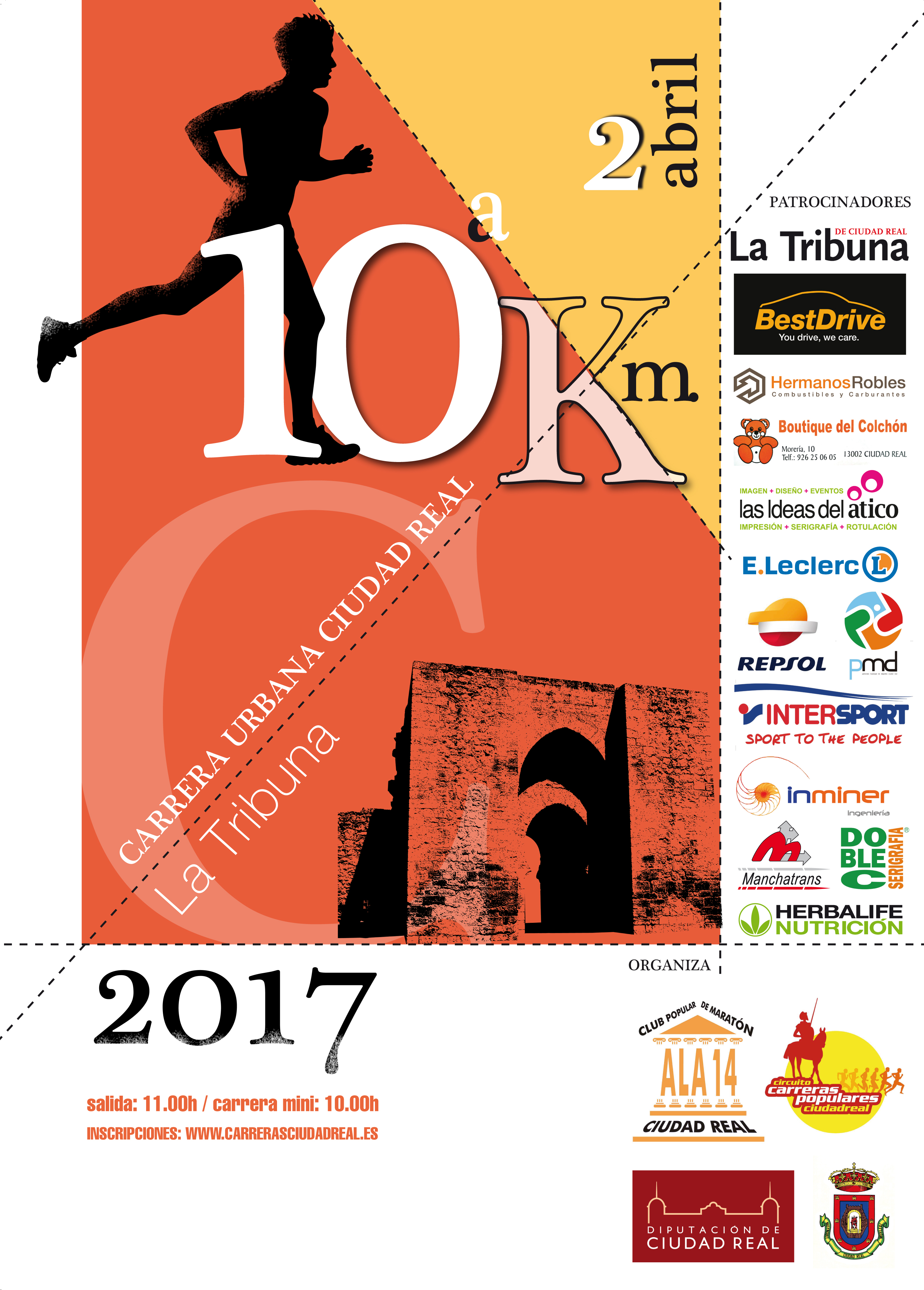 Cartel 10ª Carrera Urbana CR 2016