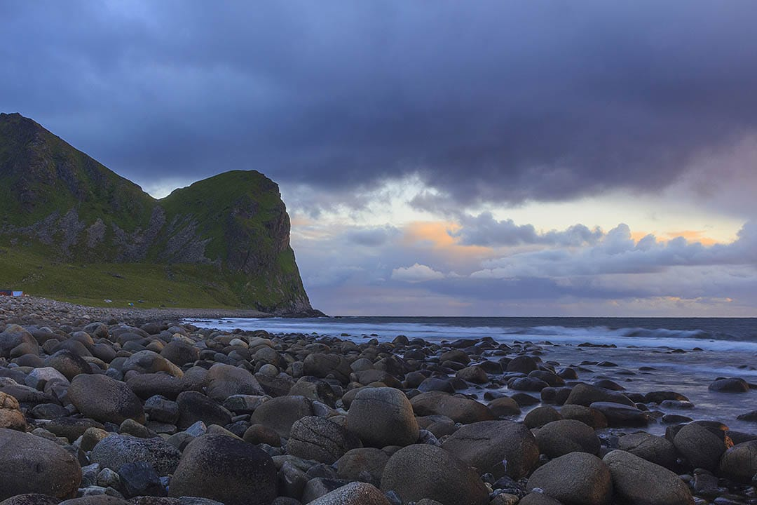 Unstad beach, Lofoten islands, Norway