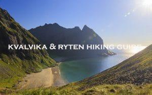 kvalvika beach and ryten mountain hiking gude