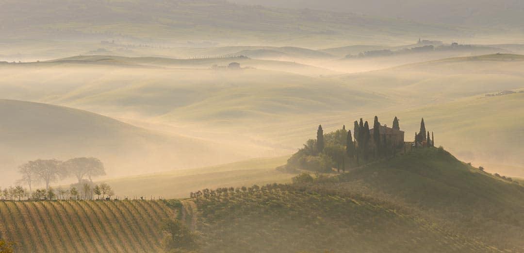 Tuscany photo tour. Belvedere farmhouse.