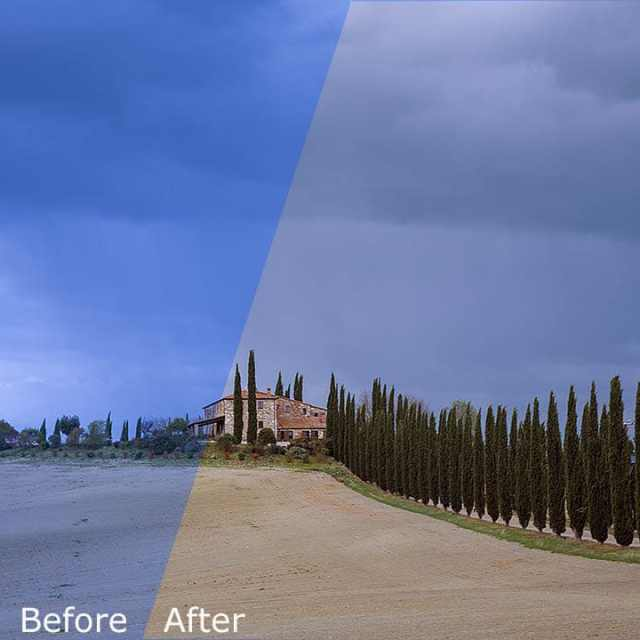 White Balance Photoshop - Before and After