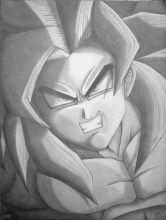 goku pictures in black and white (53)