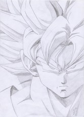 goku pictures in black and white (56)