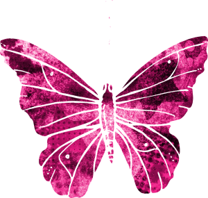 butterfly, pink, clipart
