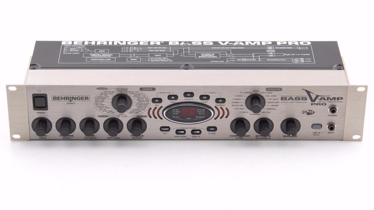 behringer bass v amp pro rack mount guitar effects processor pd 5995