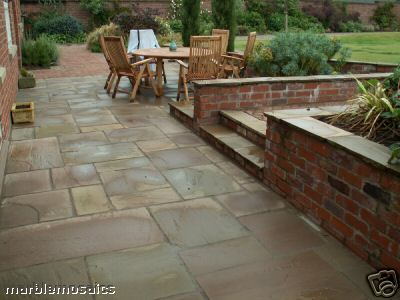 sample calibrated autumn brown indian sandstone paver