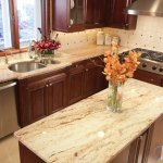 Ivory Brown Kitchen Granite Counters Marble Com
