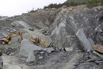 modern marble quarry