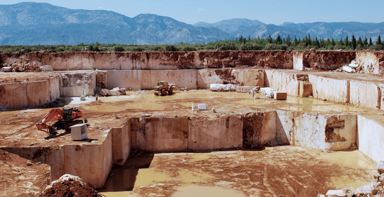 QUARRY , ANTALYA, noce-travertine-antalya-quarry
