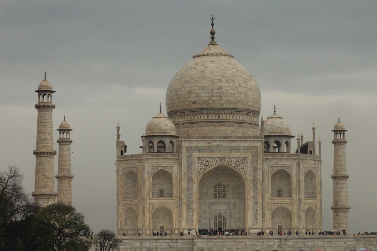 Taj Mahal made by ivory-white marble