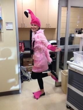 K at Halloween in School.