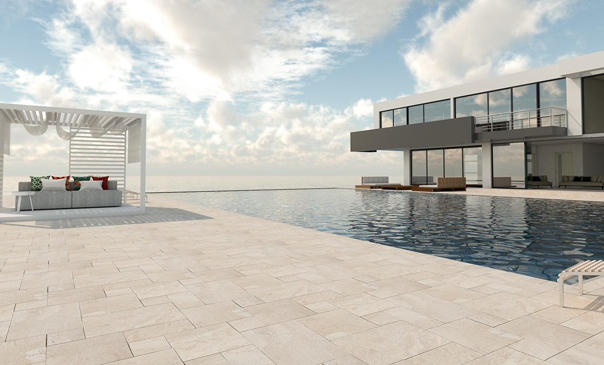 outdoor stone tile use natural stone