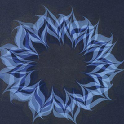 K. Franklin Spoor, Newport News, Virginia, Acrylic on artist paper, over-marbled