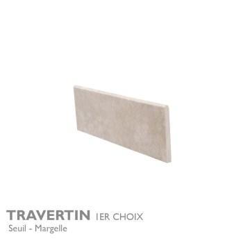 Seuil et margelle TRAVERTIN 1er Choix 100 120 140 cm