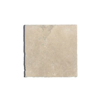 Dalle pierre TRAVERTIN 1er CHOIX 20,4 cm x 20,4 cm