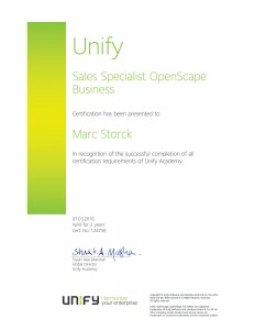 Unify Sales Specialist OpenScape Business