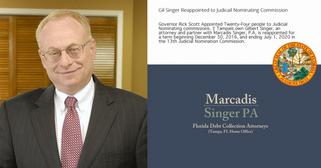 Partner Gil Singer re-appointed to Judicial Nominating Committee