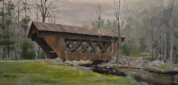 Saxeville Covered Bridge 12x24 $650