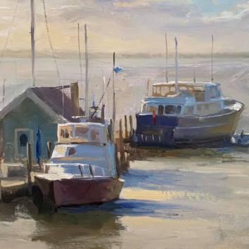 Florida Boats-1 12x16 $650
