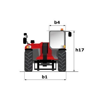 Schéma d'encombrement (vue avant/arrière), MLT 625