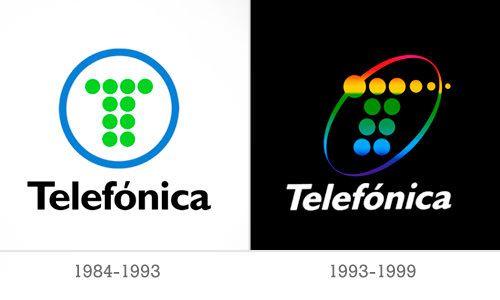 el logo de telef nica 1984 se puede decir m s con menos. Black Bedroom Furniture Sets. Home Design Ideas