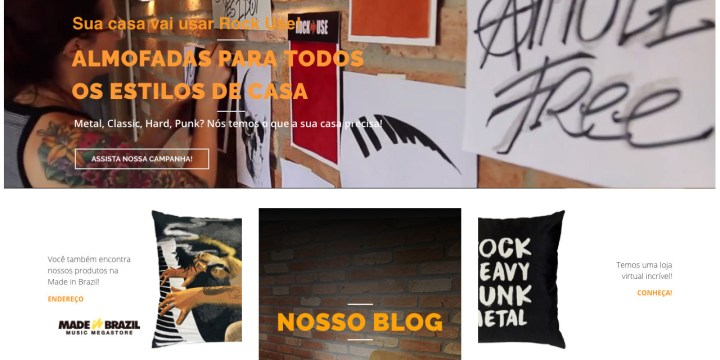 Criação de Website / Website development: Rock Use – Rock Decor