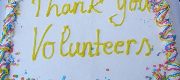 """Thank You Volunteers"" cake"