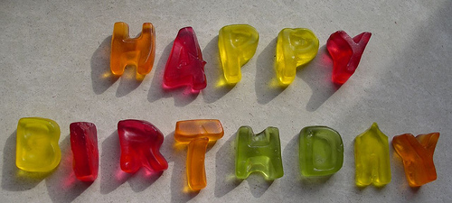 Happy Birthday gummies