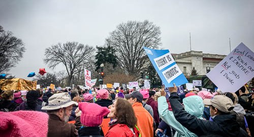 Women's March in Washington DC, 21 January 2017