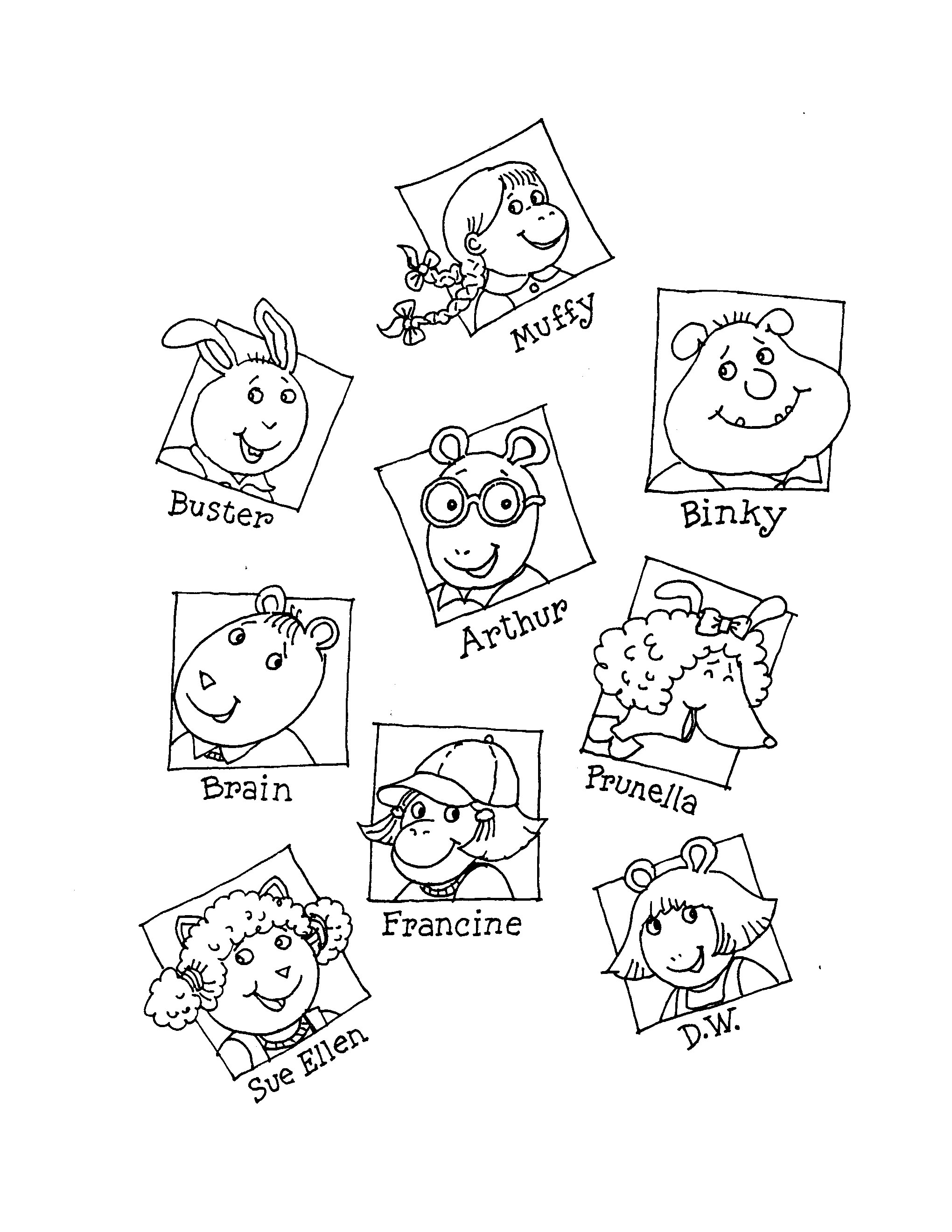 Printables Of Arthur By Marc Brown Worksheets