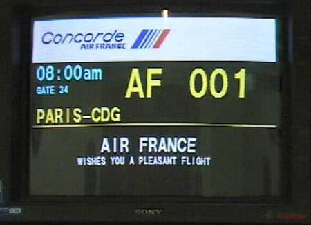 Concorde schedule image