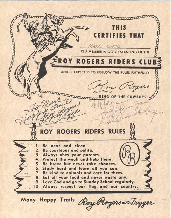 Roy Rogers Riders Club image