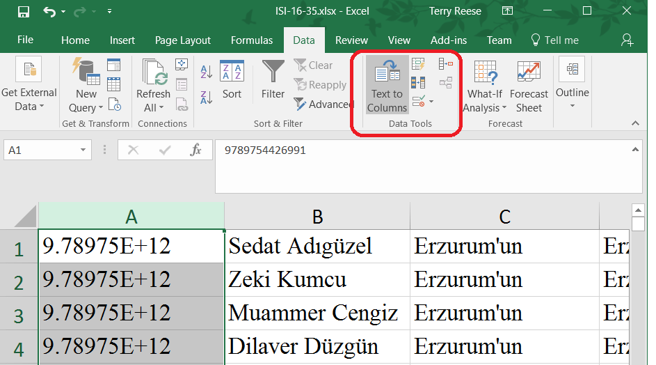 how to give notations in excel