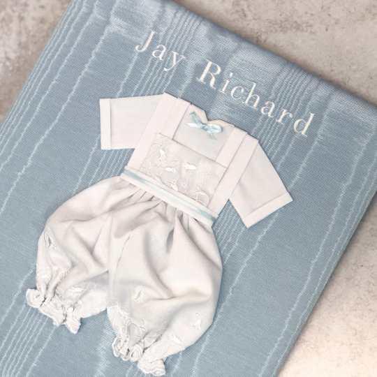 Large-Baby-Photo-Album-AR11-22B-Blue-Bodoni-White-Thread-IG