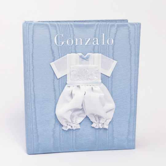Large-Baby-Photo-Album-AR11-22B-Blue-Bodoni-White-Thread