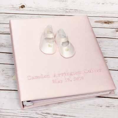 Large-Baby-Photo-Album-AR11-SH-Pink-Silk-Thread-Fun-Baby-Pink-Thread-