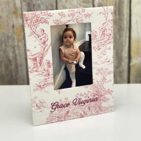Baby Photo Frame In Cotton In The Baby Garden Collection
