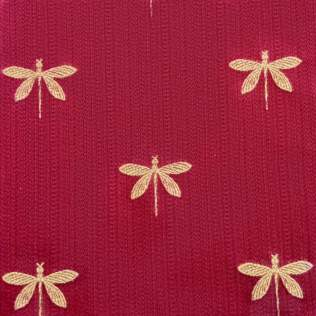 Fabric-Swatch-Brocade-Gold-Dragon-Flies-on-Chinese-Brocade