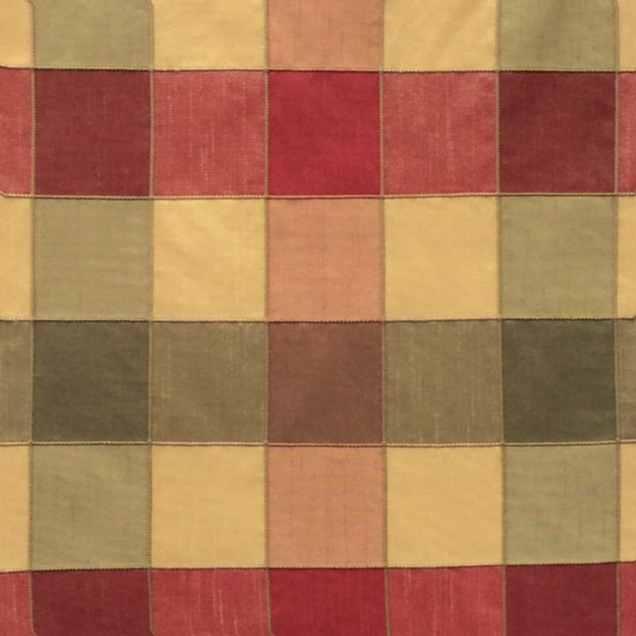 Fabric-Swatch-Silk-Multicolored-Plaid-Silk