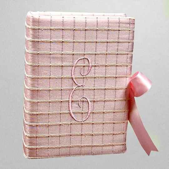 AHB7-46-Pink-Textured-Silk-Style-15-Baby-Pink-Thread-E