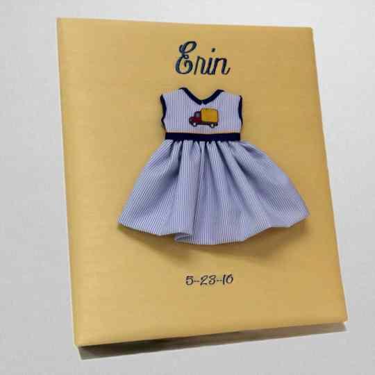 KBRE-47G-Yellow-Shantung-Style-51-Dark-Blue-Thread-Erin